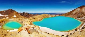 Emerald Lakes, New Zealand. Emerald Lakes, Tongariro National Park, New Zealand stock photo