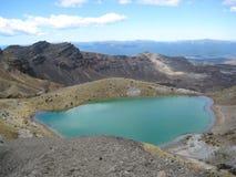 Emerald lakes, New Zealand stock image