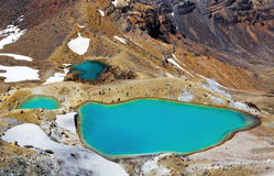 Emerald Lakes Nya Zeeland arkivfoton