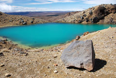 Emerald lakes in Tongariro Stock Images