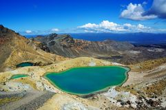 Emerald Lakes - Tongariro Crossing Stock Images