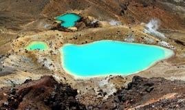 Emerald Lakes Stock Photography