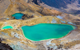Emerald Lakes, Tongariro National Park, New Zealand Royalty Free Stock Photo