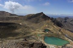 Emerald Lakes in Tongariro National Park. Tongariro National Park in New Zealand Royalty Free Stock Photos