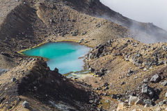 Emerald Lakes Tongariro National Park, New Zealand Stock Images