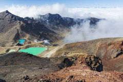 Emerald Lakes Tongariro National Park, New Zealand Royalty Free Stock Photos