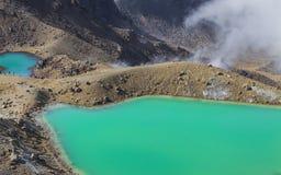 Emerald Lakes Tongariro National Park, New Zealand Stock Image