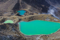 Emerald Lakes Tongariro National Park, New Zealand Royalty Free Stock Photography