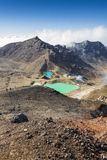 Emerald Lakes Tongariro National Park, New Zealand Stock Images