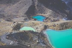 Emerald Lakes Tongariro National Park, New Zealand Royalty Free Stock Images