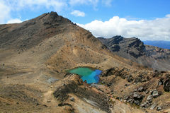 Emerald Lakes in Tongariro, NZ Royalty Free Stock Images