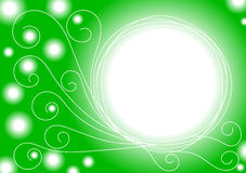 Emerald lights border frame. Emerald lights with swirls border frame Royalty Free Stock Photos