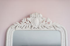 Emerald mirror are decorated with stucco decorative elements of the Renaissance, Baroque Stock Photo