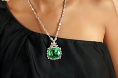 Emerald necklace Royalty Free Stock Image