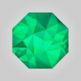 Emerald octagon shape Royalty Free Stock Photos