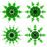 Emerald ornaments. Four emerald ornaments pattern - VECTOR Stock Photo