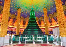 Emerald Pagoda. Of temple in Thailand Royalty Free Stock Photo