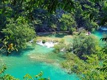 Emerald Pond at Plitvice National Park Stock Photos
