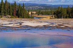 Emerald pool. Of Midway Geyser in Yellowstone USA Stock Image