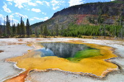 Emerald Pool at Yellowstone National Park Royalty Free Stock Images
