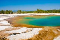 Emerald Pool in Yellowstone Nationalpark, USA stockfotografie