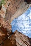 Emerald Pools Trail på Zion National Park royaltyfri fotografi