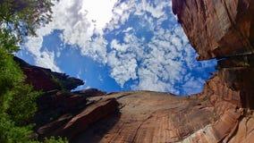 Emerald Pools Trail på Zion National Park royaltyfri bild