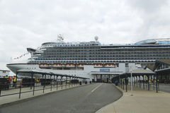 Emerald Princess Cruise Ship docked at Brooklyn Cruise Terminal Royalty Free Stock Photos