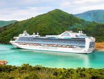 Emerald Princess Cruise Ship, Nova Zelândia fotografia de stock royalty free