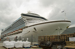 Emerald Princess Cruise Ship Southampton Arkivfoto