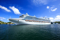 Emerald Princess, one of the largest cruise ships in the Princess fleet Royalty Free Stock Photo