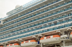 Emerald Princess Ship Balconies Royaltyfria Bilder