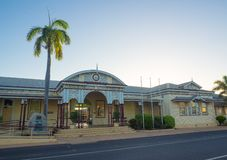 Emerald railway station is a heritage-listed railway station on the Central Western railway line was built in 1900 by Thomas Moir. Emerald, Queensland stock photos