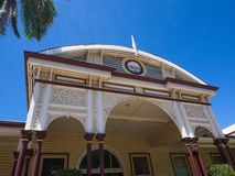 Emerald railway station is a heritage-listed railway station on the Central Western railway line was built in 1900 by Thomas Moir. Emerald, Queensland royalty free stock photography