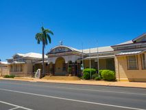 Emerald railway station is a heritage-listed railway station on the Central Western railway line was built in 1900 by Thomas Moir. Emerald, Queensland stock photo