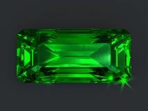 Emerald rectangular cut isolated vector illustration
