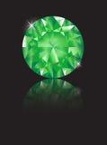 Emerald reflected Stock Photo