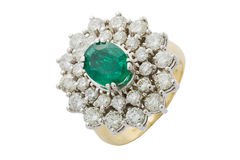 Emerald ring Royalty Free Stock Images