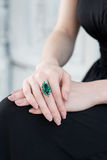 Emerald ring Royalty Free Stock Photo