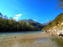 Soča, the emerald river Royalty Free Stock Photography