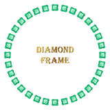 Emerald round frame Royalty Free Stock Images