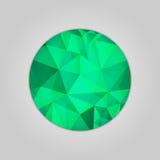 Emerald round shape Royalty Free Stock Photos