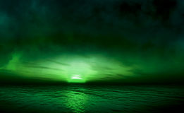 Emerald sea. With beautiful sky stock photo