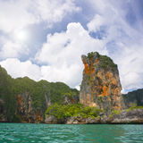 Emerald sea and cliffs Stock Images