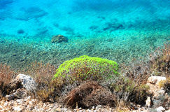Emerald sea, greece royalty free stock photo