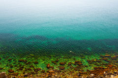 Emerald sea scene Royalty Free Stock Photography