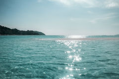 Emerald sea wave sunlight Royalty Free Stock Images