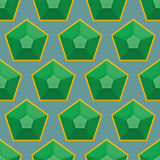 Emerald seamless pattern. Vector background of green gems. Royalty Free Stock Photo