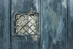 Emerald shabby door Cracked weathered wooden texture royalty free stock photo