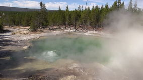 Emerald Spring Yellowstone N.P. stock video footage